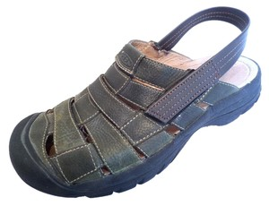 Keen Mens Leather Green Sandals