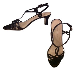 Franco Sarto New Black Patent Sandals