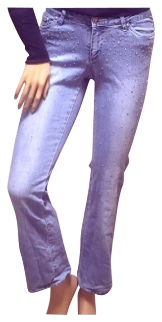 Item - Light Blue Embellished Jeweled Relaxed Fit Jeans Size 28 (4, S)