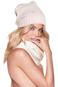 Victoria's Secret VICTORIAS SECRET winter white jeweled hat and scarf set