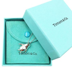 Tiffany & Co. Rare TIFFANY Silver Penguin Pendant Necklace