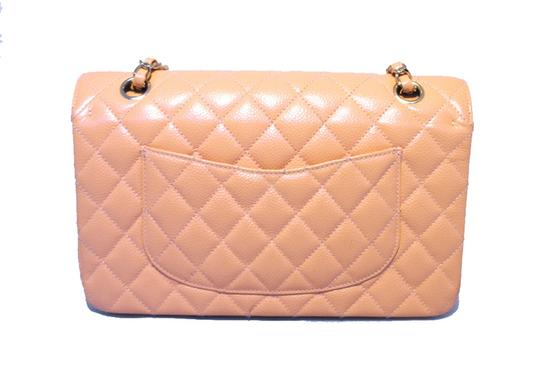 Chanel Classic 2.55 Caviar Leather Nude Shoulder Bag Image 1