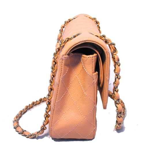 Chanel Classic 2.55 Caviar Leather Nude Shoulder Bag Image 2