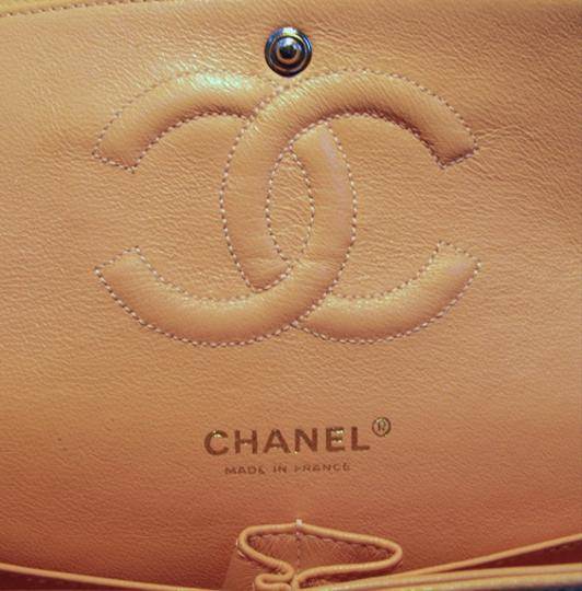 Chanel Classic 2.55 Caviar Leather Nude Shoulder Bag Image 5
