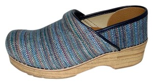 Dansko Professional Clogs Textured Canvas 38 Multi-Color Flats
