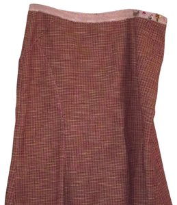 The Limited Skirt Pink and Brown Tweed