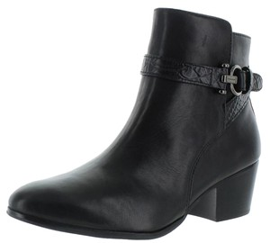 Coach Ankle Boot Snakeskin Black Boots