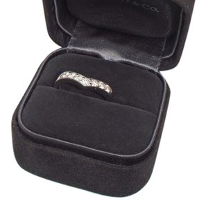 Tiffany & Co. Tiffany & Co. Diamond & Platinum Heart Band Ring SZ 6 with box