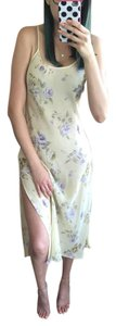 Yellow Maxi Dress by Victoria's Secret Floral Print Side Slit