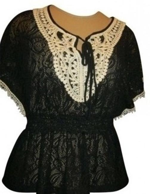 Preload https://img-static.tradesy.com/item/163856/forever-21-black-studded-lace-tunic-size-petite-6-s-0-0-650-650.jpg