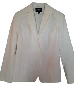 Express Lined Fitted Stretch Cream/White Blazer