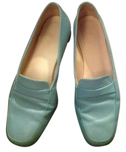 Bally Designer Leather Lt. Blue Flats