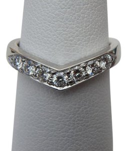 Tiffany & Co. Tiffany & Co. Diamond & Platinum Heart Band Ring SZ 6.5 with box, free resize