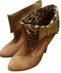 Betsey Johnson Suede Calf Hair Animal Print Boots