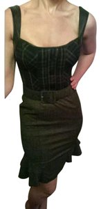 bebe Plaid 1940's Pencil Dress