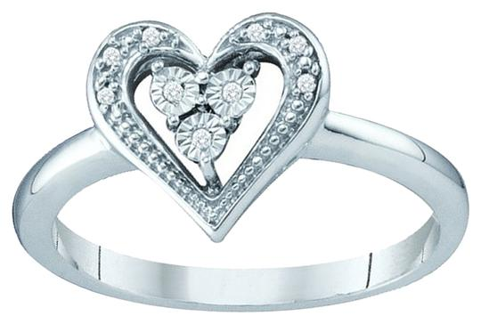 Other BrianG 10k WHITE GOLD 0.30 CTTW DIAMOND HEART FASHION RING / BAND