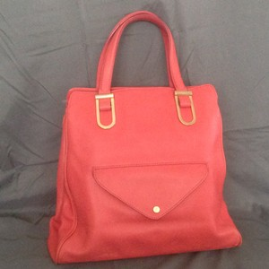 Ellen Tracy Satchel in Red Leather