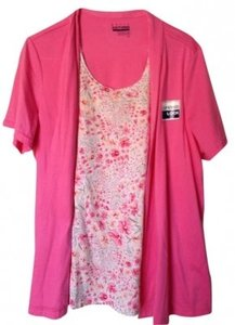 Basic Editions Top Pink/floral