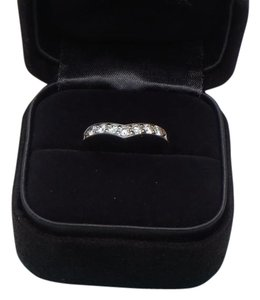 Tiffany & Co. Tiffany & Co. Diamond & Platinum Heart Band Ring SZ 5.5 with box, free resize