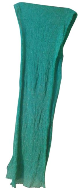 Item - Green With Metal Thread Scarf/Wrap