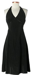 Tocca Silk Cut-out Halter Dress