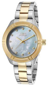 Invicta Invicta two tone 18K gold plated, mother of pearl face