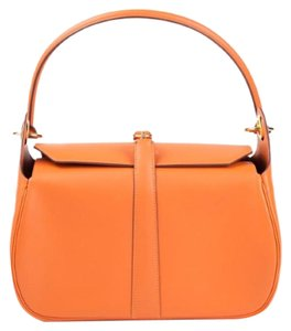 Hermès Potirin Rugby Orange Birkin Shoulder Bag