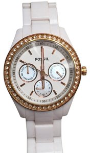 Fossil White rose gold Fossil watch