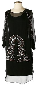 Mark & James by Badgley Mischka Silk Embellished Sheer Dress