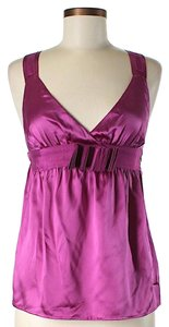 See by Chlo Silk Belted Top Fuchsia