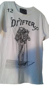 Drifter T Shirt white with print
