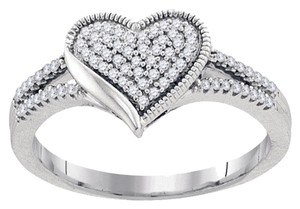 Other BrianG 10k WHITE GOLD 0.20 CTTW DIAMOND MICRO PAVE HEART RING