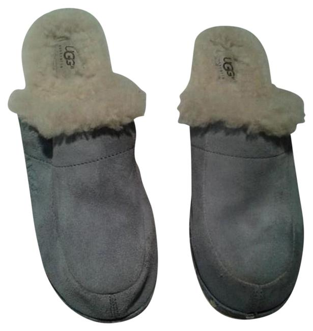 Item - Blue Shearling Lined Mules/Slides Size US 10 Regular (M, B)
