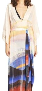 Peach printed Maxi Dress by Diane von Furstenberg