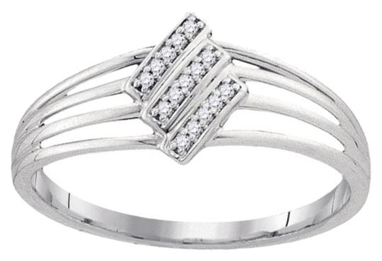Other BrianG 10k WHITE GOLD 0.05 CTTW DIAMOND MICRO PAVE FASHION RING