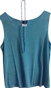 Citiknits Spandex Blend Top turquoise blue