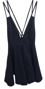 Nasty Gal short dress Blue denim on Tradesy