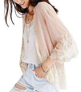 Pins and Needles Urban Outfitters Kimono Lace Free People blush, cream Jacket