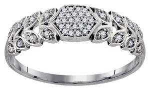 BrianG 10k WHITE GOLD 0.10 CTTW DIAMOND MICRO PAVE FASHION RING / BAND