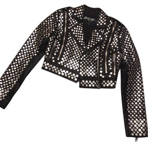 Nasty Gal Black studded jacket Jacket