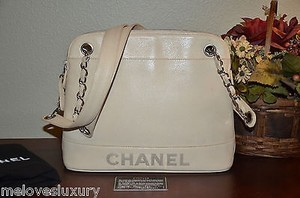 Chanel Shoppers Tote in BEIGE CREAM