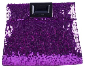 Kara Ross Sequin Magenta Clutch