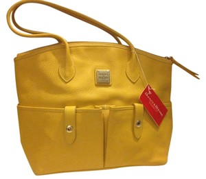 Dooney & Bourke Leather Satchel in Yellow
