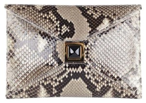 Kara Ross Prunella Python Brown Multi-Color Clutch