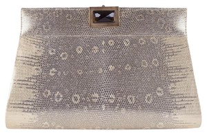 Kara Ross Amo Ring Lizard Gold Clutch