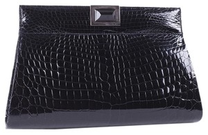 Kara Ross Crocodile Jewel Handbag Black Clutch