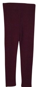 Free People Deep Red Leggings