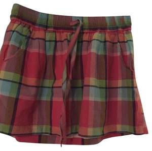 Gilly Hicks Mini Skirt Summer Plaid