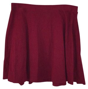 Lily White Mini Skirt Deep red