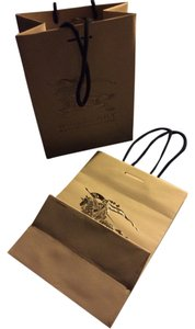 Burberry Lot Of 2x Burberry Gift Bags 7x10x4